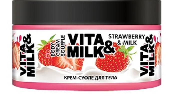 Крем для ухода за кожей Vita&Milk Клубника и молоко 250 мл, 40035, 7160 цены