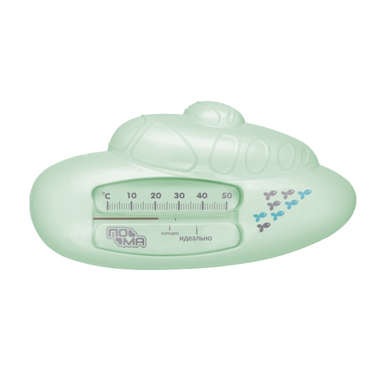 """Термометр для воды ПОМА Индикатор температуры воды для ванны """"Подводная лодка"""" (АБС-пластик), 1 шт., 5917"""