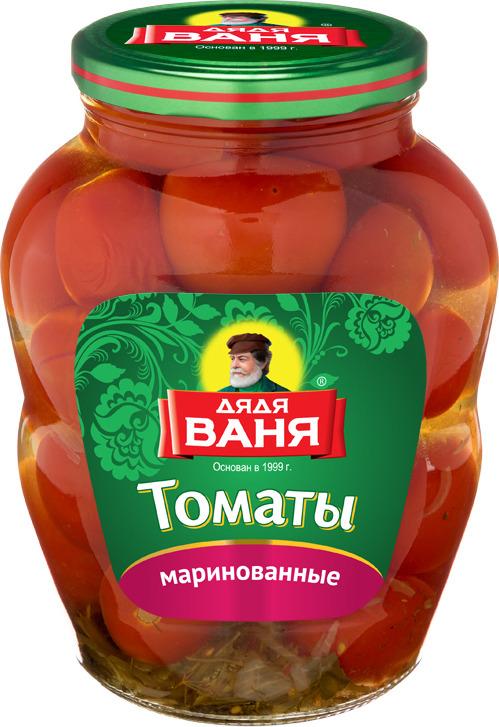 Дядя Ваня томаты маринованные, 1,8 кг дядя ваня закусочка по тоскански 460 г