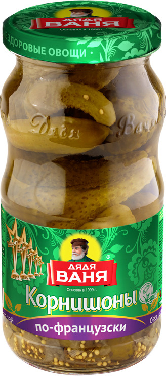 Фото - Дядя Ваня корнишоны консервированные по-французски 3-6 см, 460 г дядя ваня аджика по аджарски 460 г