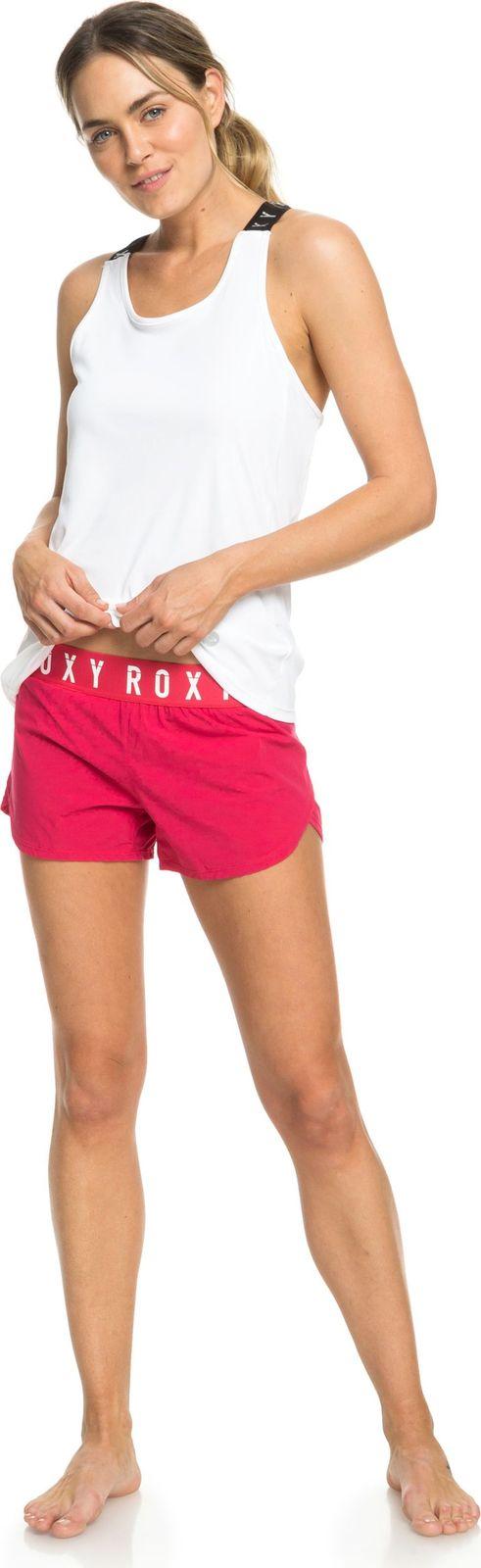 Шорты женские Roxy Sunny Tracks Short, цвет: лососевый, молочный. ERJNS03191-MPT0. Размер L (46)ERJNS03191-MPT0