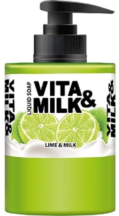 Жидкое мыло Vita&Milk Лайм и молоко 300 мл