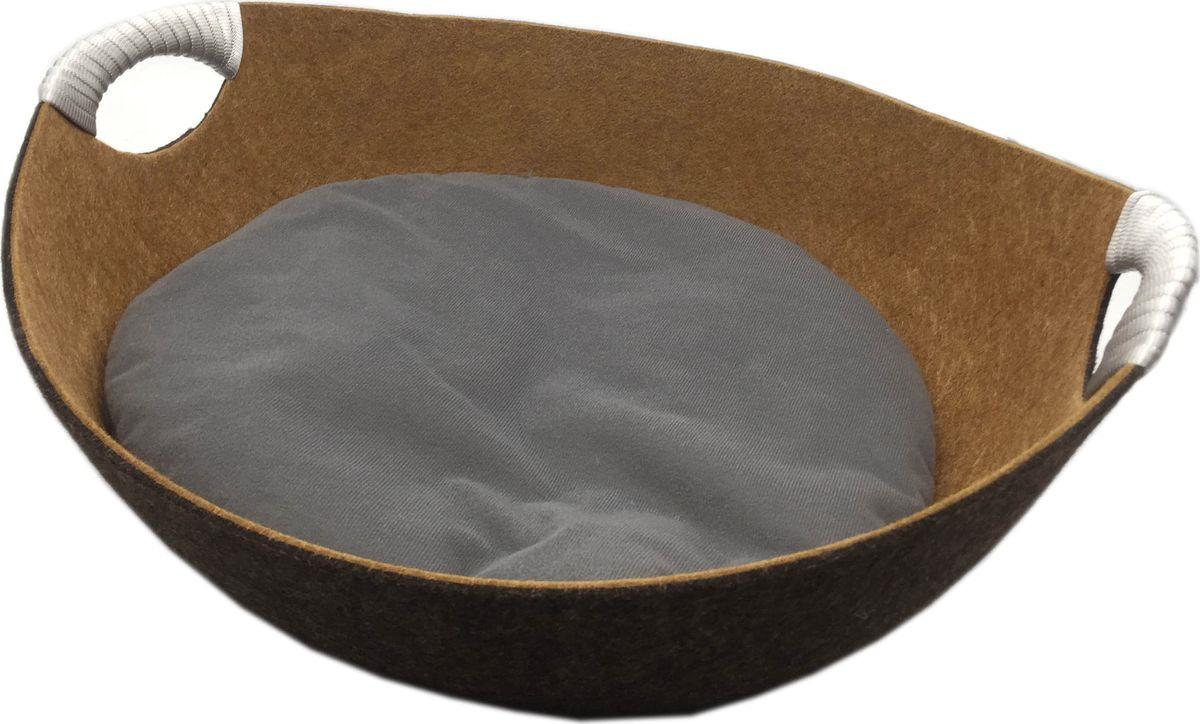 Лежак для собак и кошек Fauna International Matis FICP-608, коричневый лежак для собак и кошек fauna international matis ficp 607 розовый