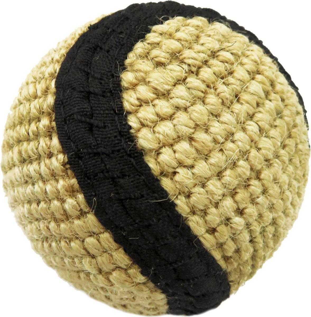 Игрушка для собак Ankur Мяч плетеный, EIP-4416, диаметр 6 смEIP-4416Игрушка из полотна, сплетенного из натурального джута с полосой черного цвета.