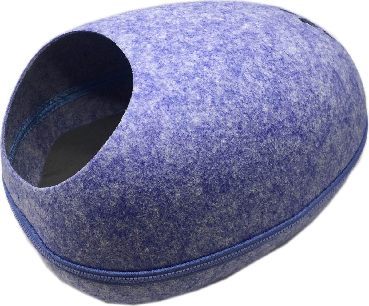 Домик для кошки Fauna International Remy FICP-602, синий лежак для собак и кошек fauna international matis ficp 607 розовый