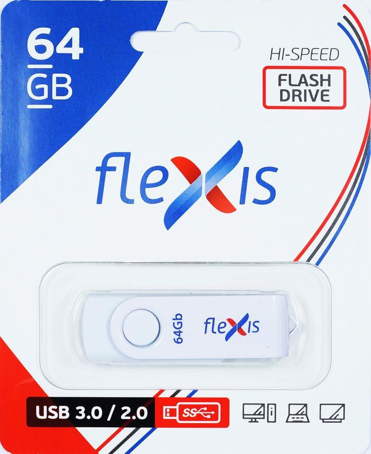 USB флеш-накопитель Flexis RW-101 64GB, FUB30064RW-101, белый