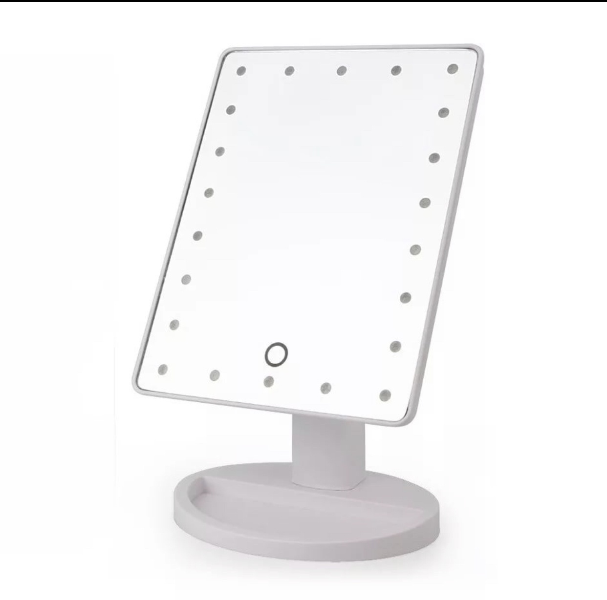 Зеркало косметическое LEDZ косметическое с LED подсветкой LEDZ-1620 , LEDZ-1620, белый acrylic frame led makeup mirror