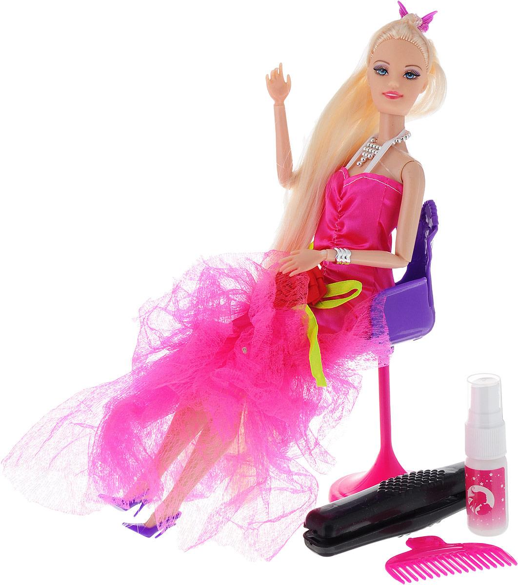 """Кукла модель """"Лина. Создаем прическу"""", 2926711, с аксессуарами, 30 см"""