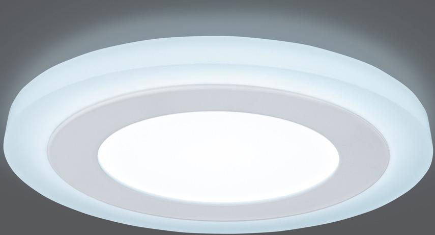 Светильник круглый Gauss Gauss Backlight, BL117, диаметр 14,5 см gauss встраиваемый светильник gauss backlight bl135 кругл узор черный gu5 3 3w led 4000k 1 40 bl135