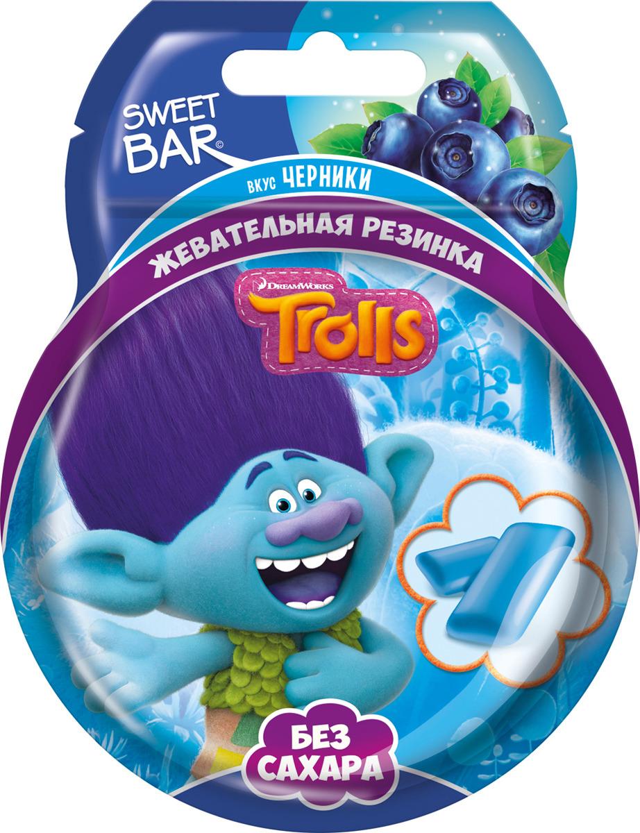 Жевательная резинка Конфитрейд Trolls, без сахара, 12 шт по 14 г жевательная резинка конфитрейд trolls вкусношарик с начинкой 100 шт по 4 г