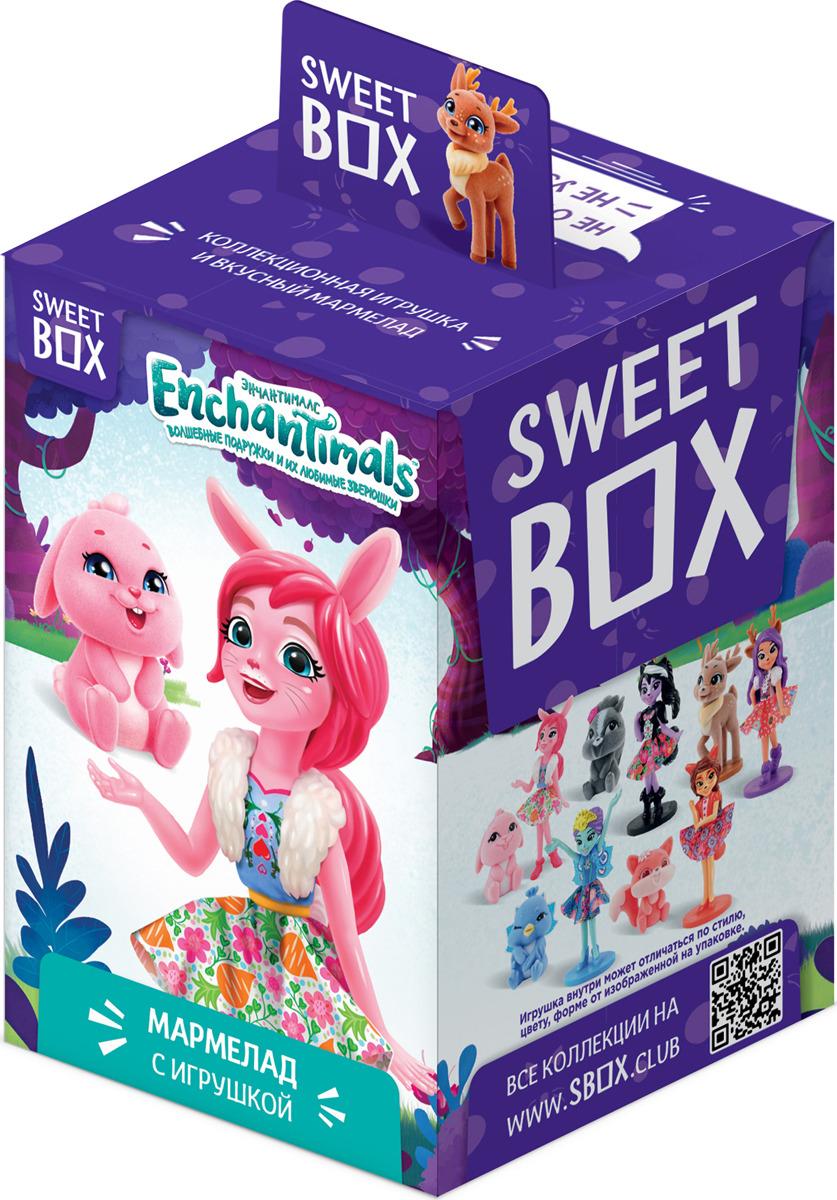 Мармелад Конфитрейд Свитбокс Enchantimals, 10 г + игрушка очаровашка морская фея фруктовый мармелад с игрушкой 10 г