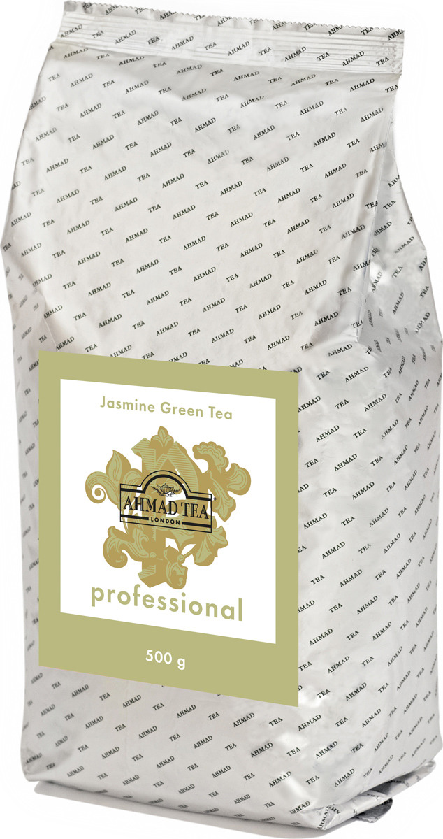 Чай зеленый листовой Ahmad Tea Professional, с жасмином, 500 г teacher малиновый рассвет чай листовой 500 г
