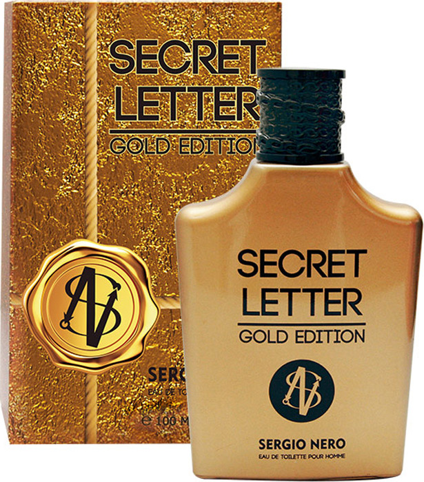 Туалетная вода Sergio Nero Secret Letter gold edition (edt) муж.100ml
