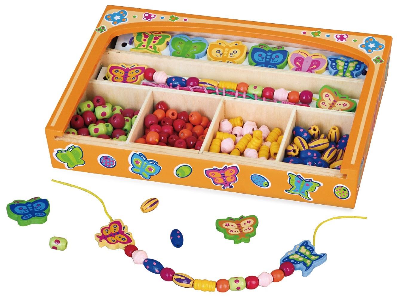 Набор для создания украшений Viga Бусы и браслеты Бабочки деревянные русский бант набор украшений детский бусы браслет