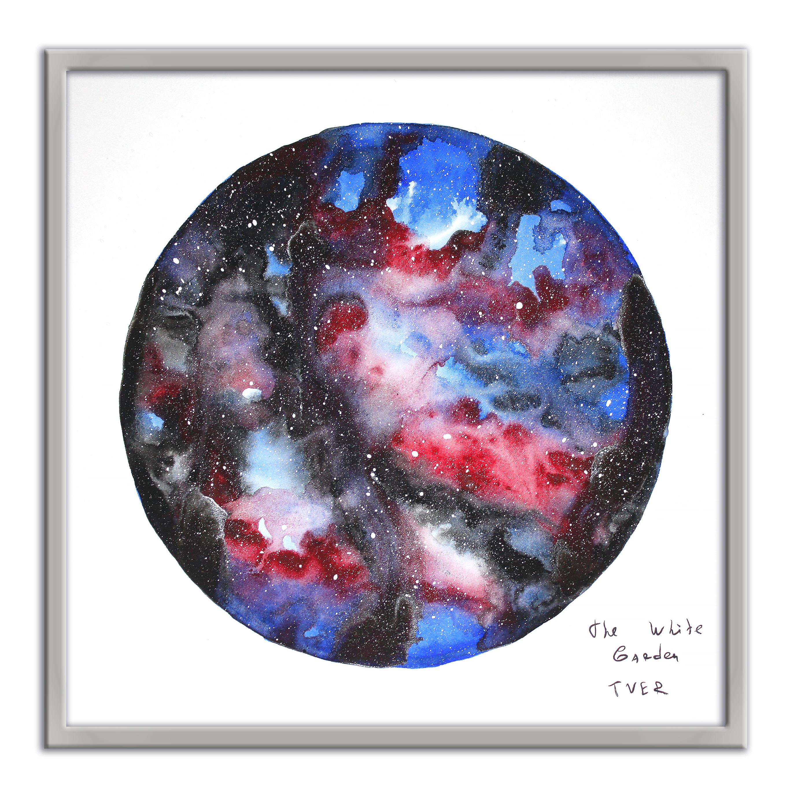 Картина The White Garden TVER вселенная, красный, синий картина фото