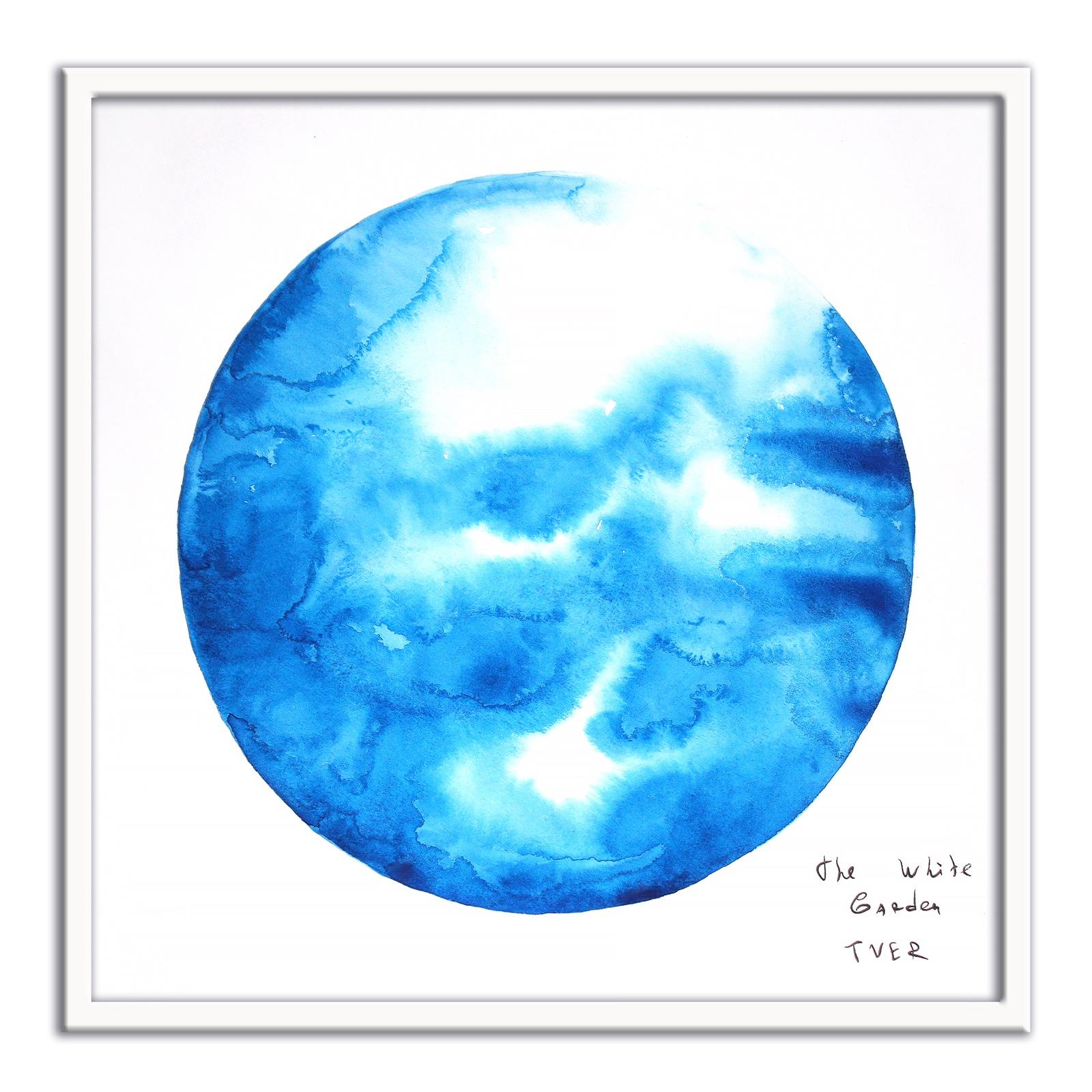 Картина The White Garden TVER молекула, голубой, белый картина фото