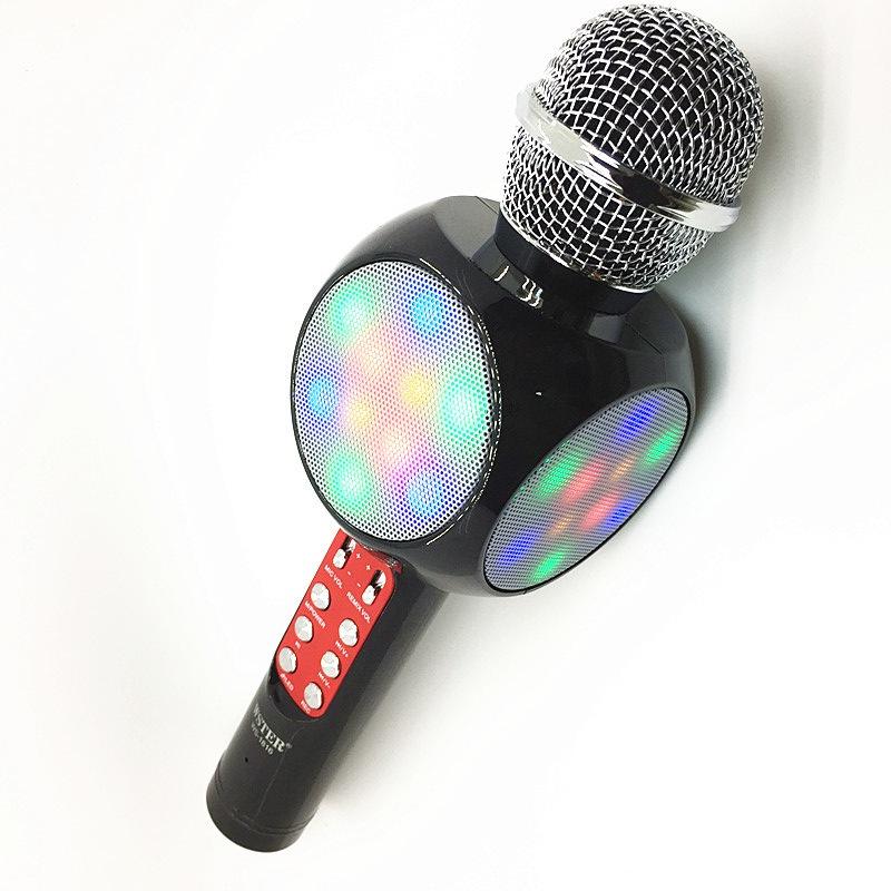 Фото - Микрофон Wster Беспроводной Караоке ws-1828 черный, Ws-1828b, черный беспроводная bluetooth колонка edifier m33bt