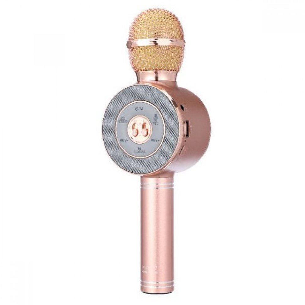 Микрофон wster Беспроводной Караоке ws-668 розовый, розовый цена