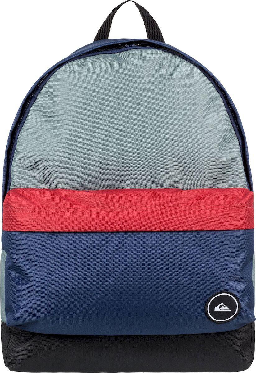 Рюкзак мужской Quiksilver Everyday Poster M, EQYBP03504-BLH0, темно-синий, красный, серо-голубой цена 2017