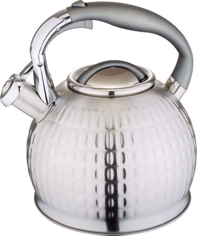 Чайник Vitesse, vs-1128, серый металлик, со свистком, 3 л чайник carl schmidt sohn aquatic со свистком цвет серый металлик 5 л