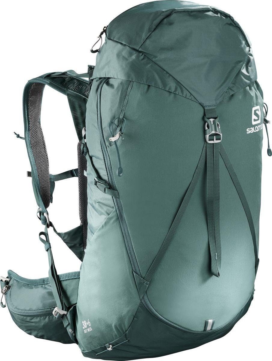 Рюкзак Salomon Out Week 38+5, LC1093600, зеленый, 38 л