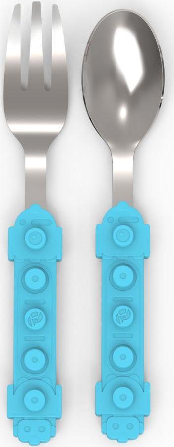 Набор детских столовых приборов Apollo Lets Play!, LTP-01-B, голубой, 2 предмета