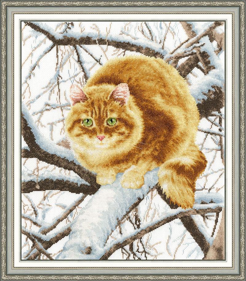Набор для вышивания Золотое Руно Рыжий кот набор для вышивания золотое руно пионы в вазе