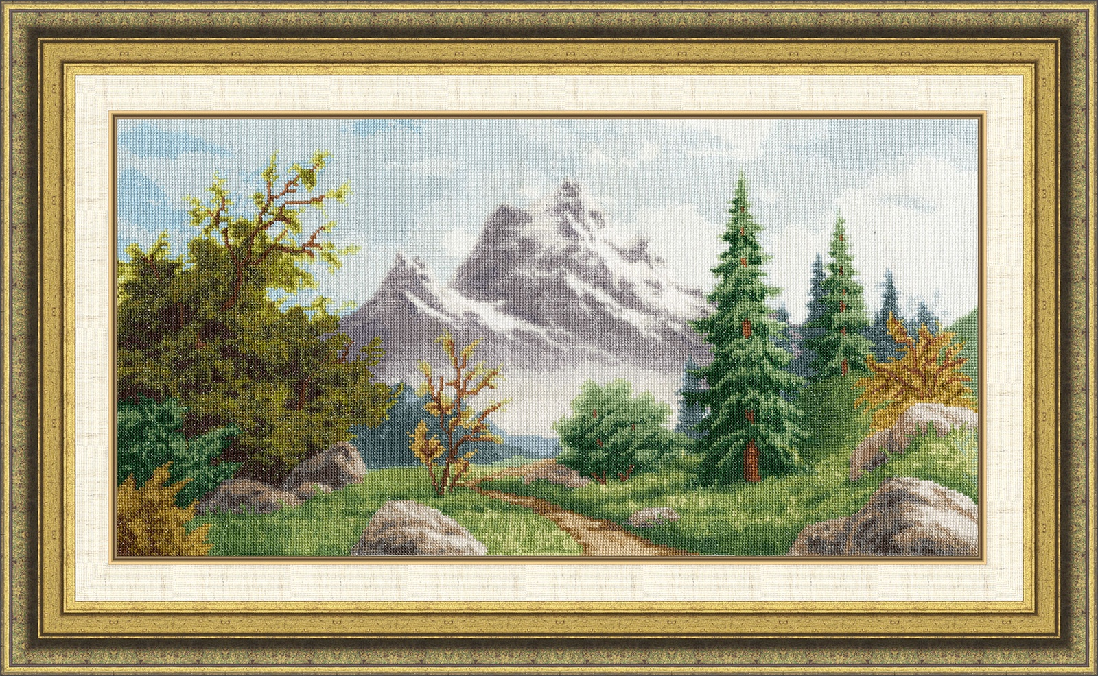 Набор для вышивания Золотое Руно Алтайский пейзаж автолампа xenite p21w ba15s 21w 12v 1007017
