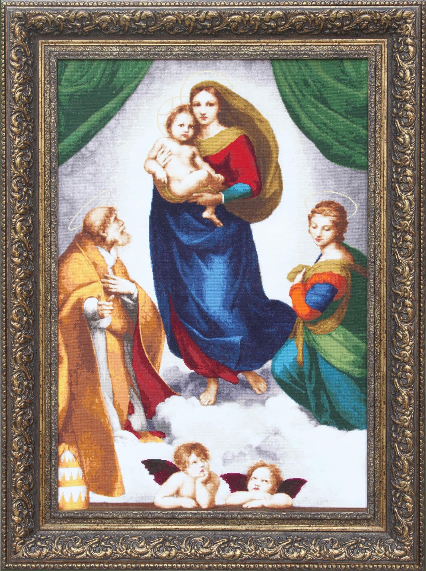 Набор для вышивания Золотое Руно Сикстинская Мадонна набор для вышивания золотое руно мамина помада
