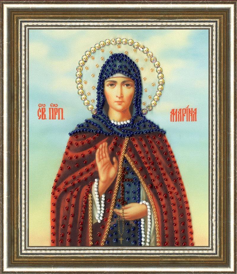 Набор для вышивания Золотое Руно Икона Святой Преподобной Марины рт130 икона святой мученицы ирины рисунок на ткани золотое руно золотое руно