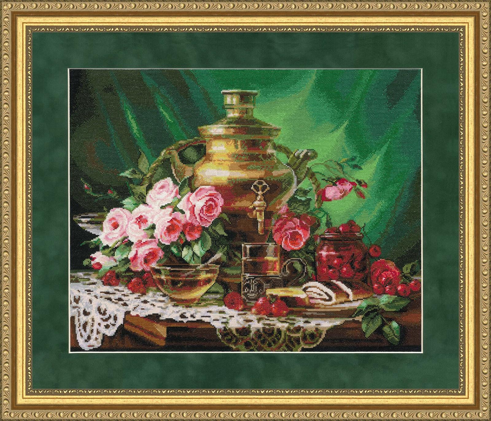 Набор для вышивания Золотое Руно Чай с мёдом набор для вышивания золотое руно пионы в вазе