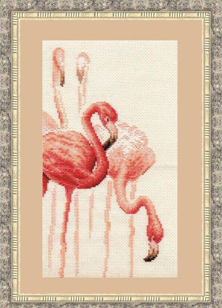 Набор для вышивания Золотое Руно Фламинго. Набор №1 набор для вышивания золотое руно солнечный день