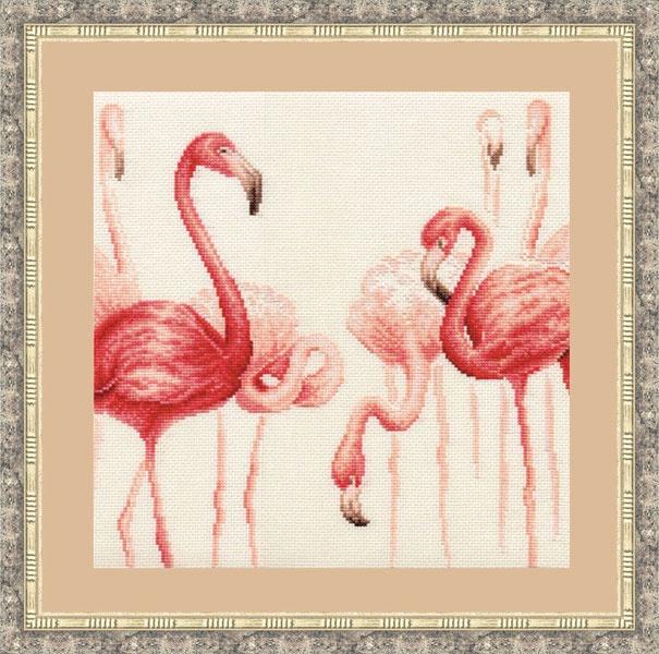 Набор для вышивания Золотое Руно Фламинго. Набор №2 набор для вышивания золотое руно солнечный день