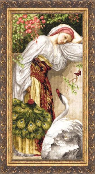 Набор для вышивания Золотое Руно Девушка с лебедем набор для вышивания золотое руно пионы в вазе