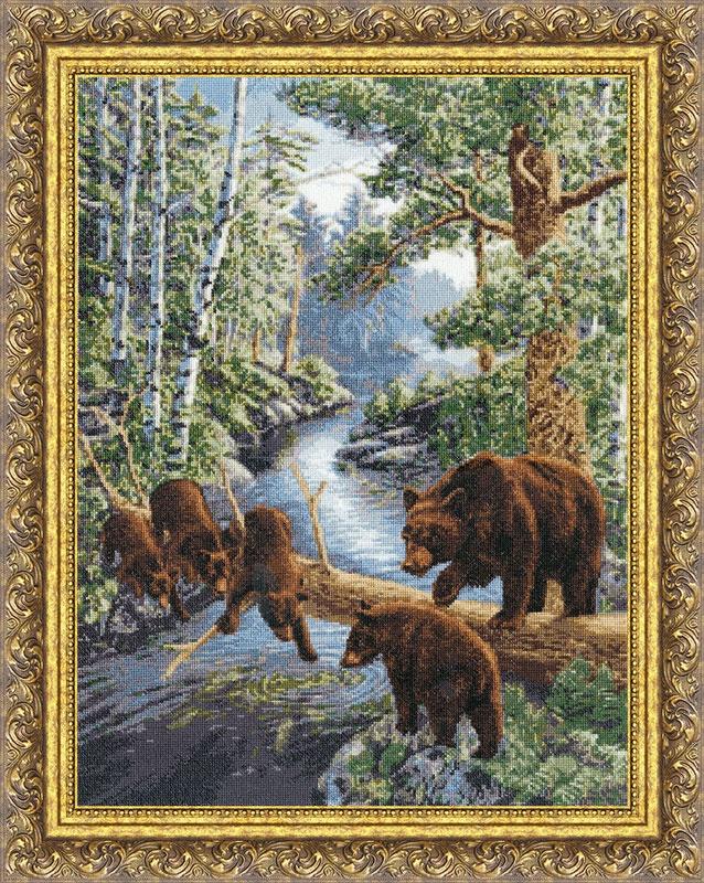 Набор для вышивания Золотое Руно Медвежий край набор для вышивания золотое руно пионы в вазе