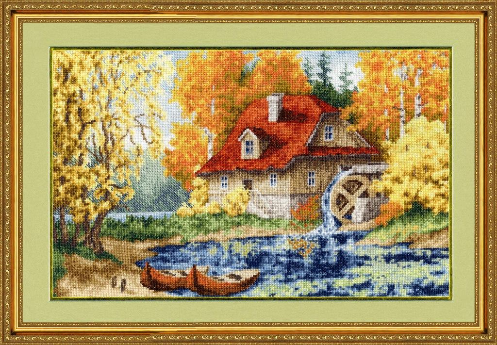 Набор для вышивания Золотое Руно Старая мельница фоторамка друзья на 3 фото цвет белый 1262615