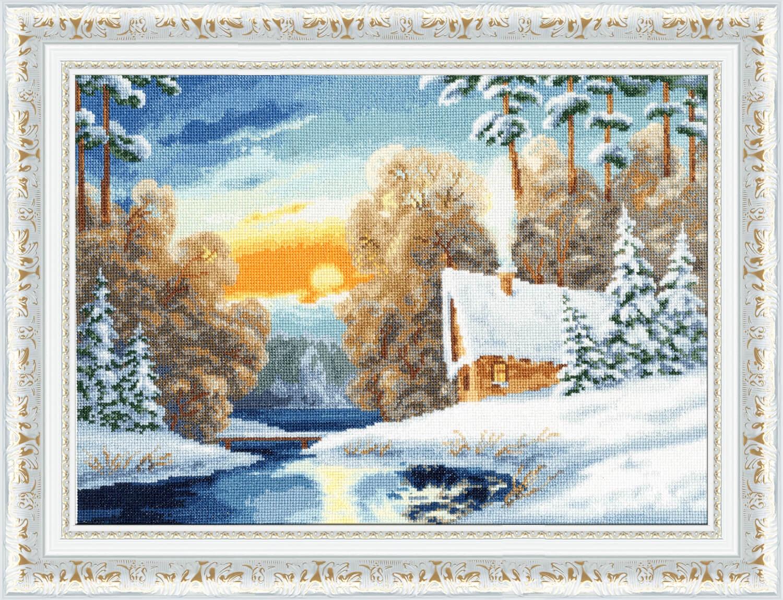 Набор для вышивания Золотое Руно Зимняя речка набор для вышивания золотое руно солнечный день