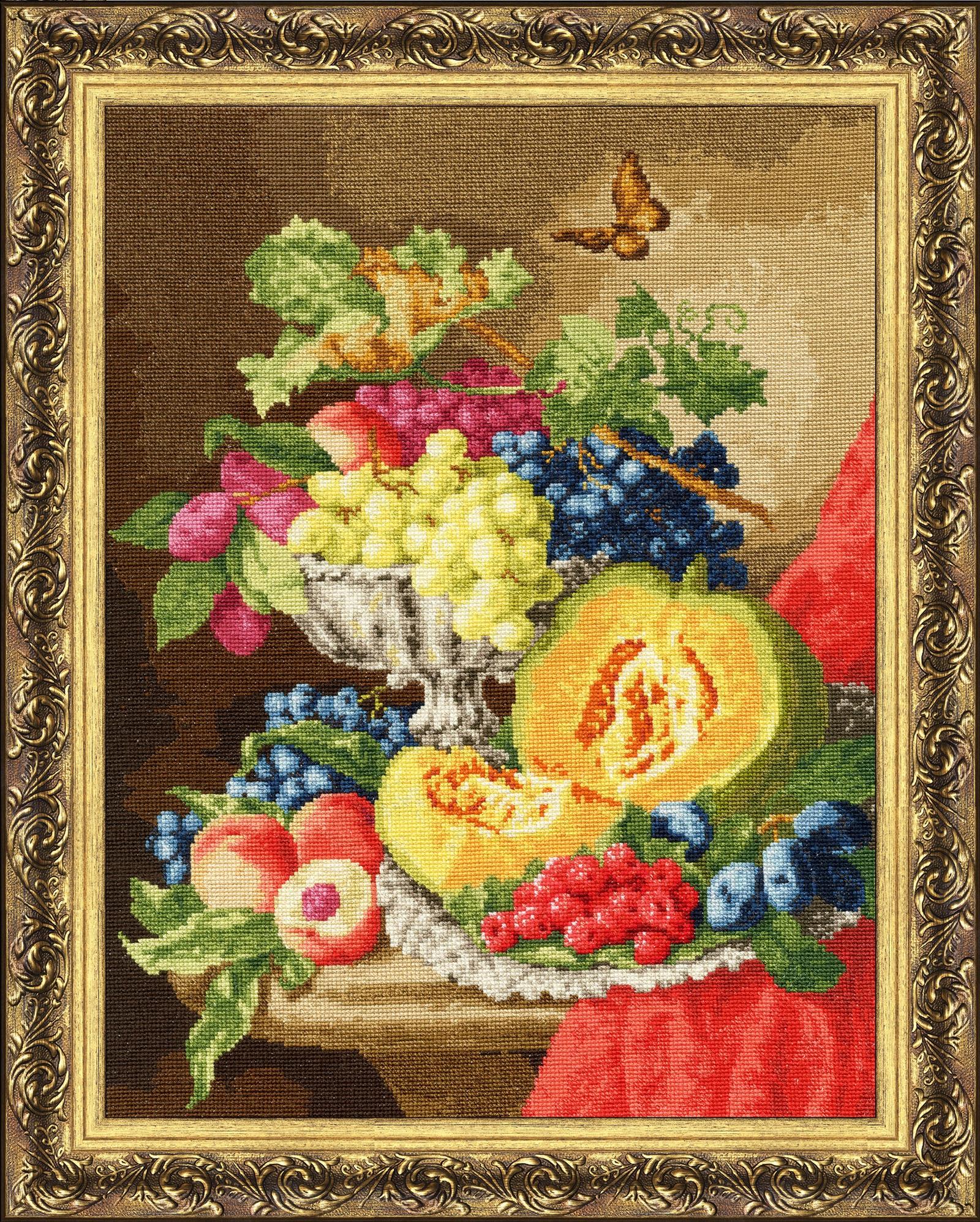 Набор для вышивания Золотое Руно Натюрморт с тыквой набор для вышивания золотое руно солнечный день