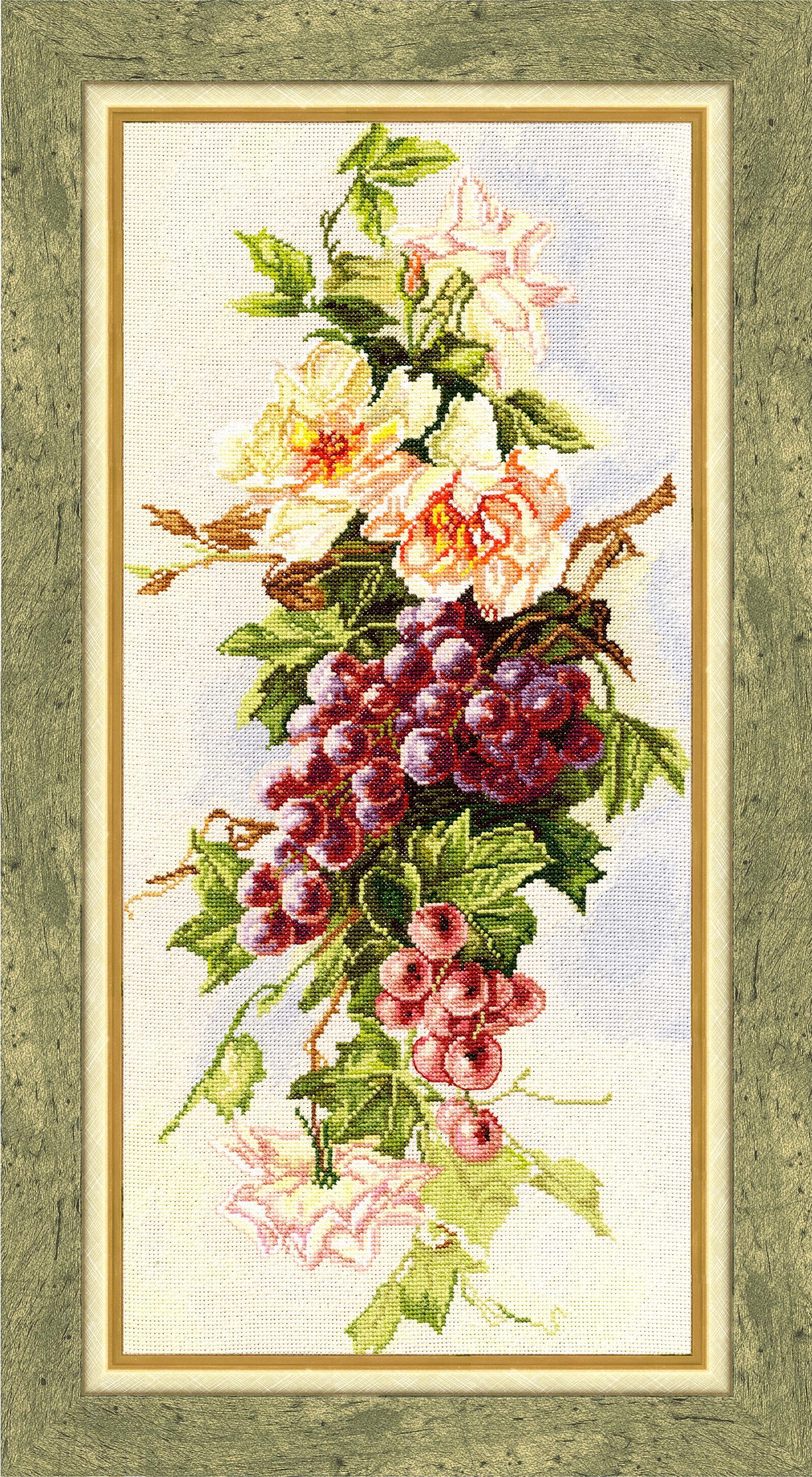 Набор для вышивания Золотое Руно Дары осени набор для вышивания золотое руно пионы в вазе
