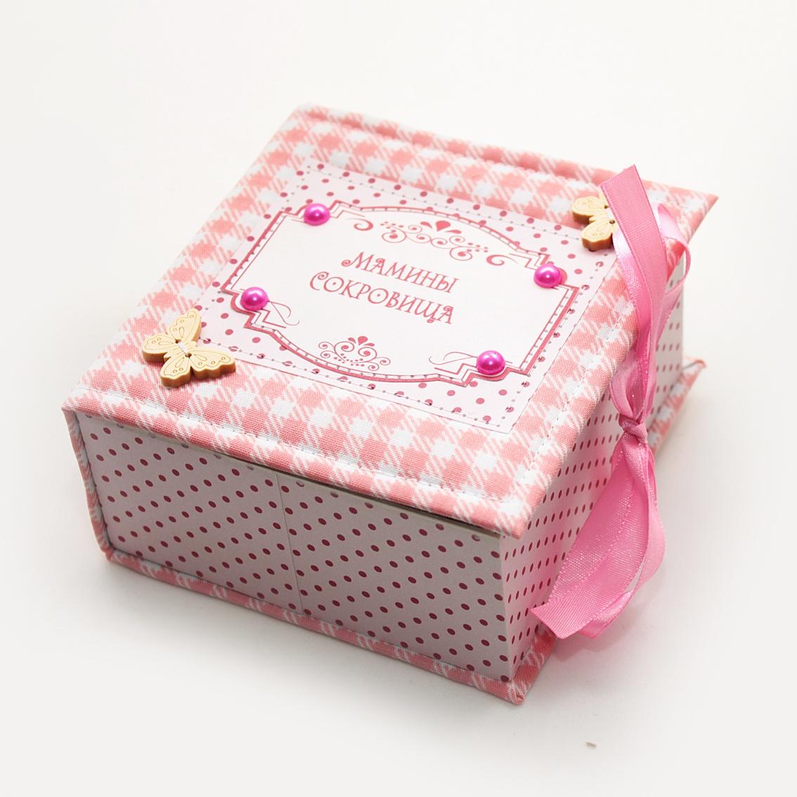 Подарочный набор детский Dream Service Коробочка для первого: локана и зубика, 5620 розовый набор шкатулок для рукоделия bestex 3 шт zw001250