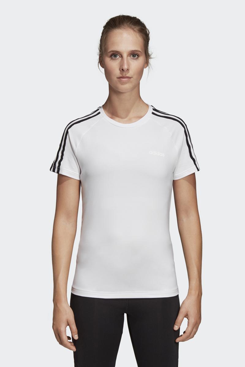 Футболка женская Adidas W D2M 3S Tee, цвет: белый. DS8723. Размер XXS (38)DS8723