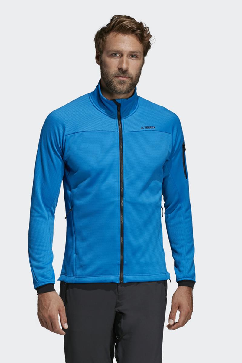 Толстовка мужская Adidas Stockhorn Fl J, цвет: голубой. DS8772. Размер 50 (52)DS8772