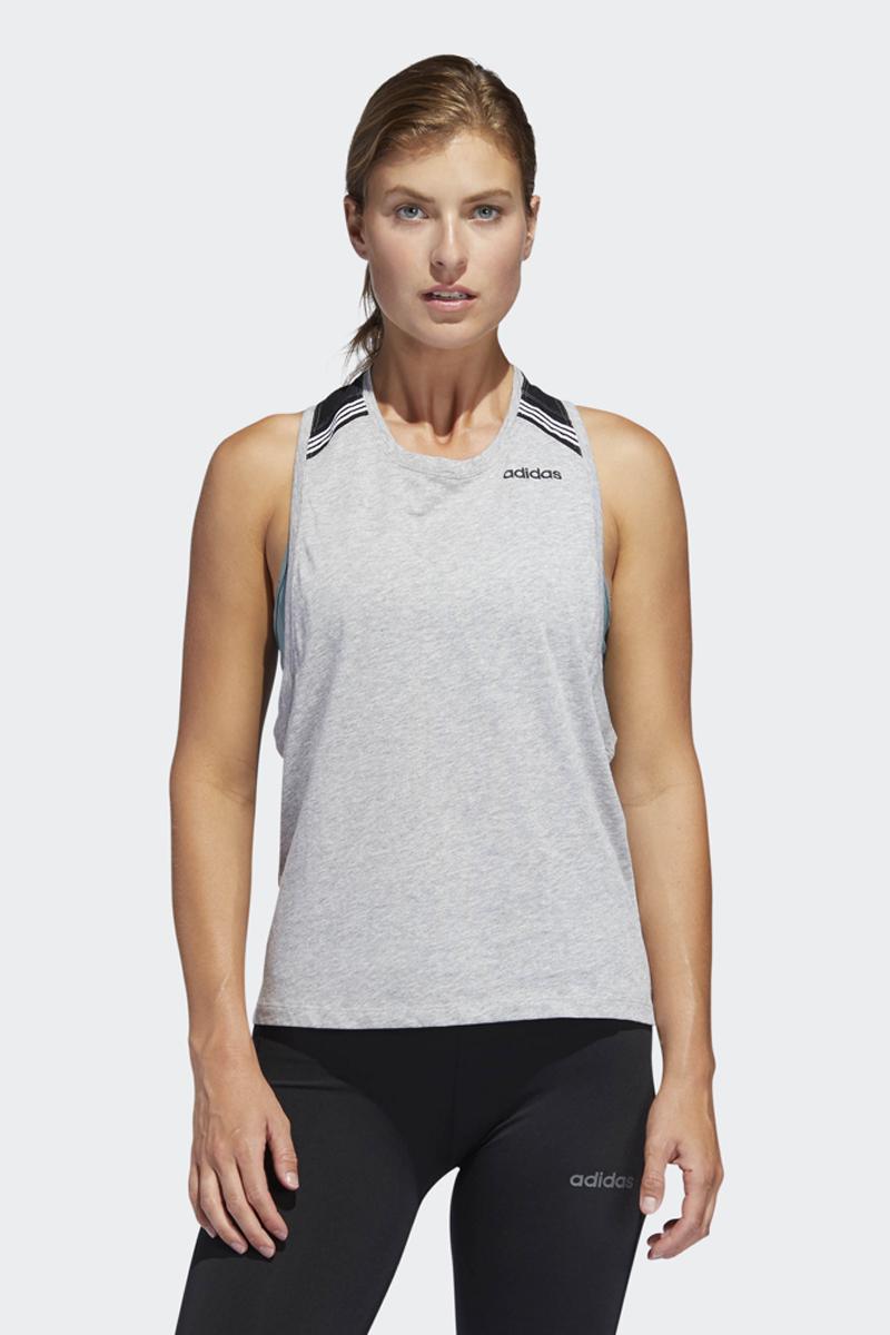 Майка женская Adidas Rb Cotton Tank, цвет: серый. DT1652. Размер XXS (38)DT1652