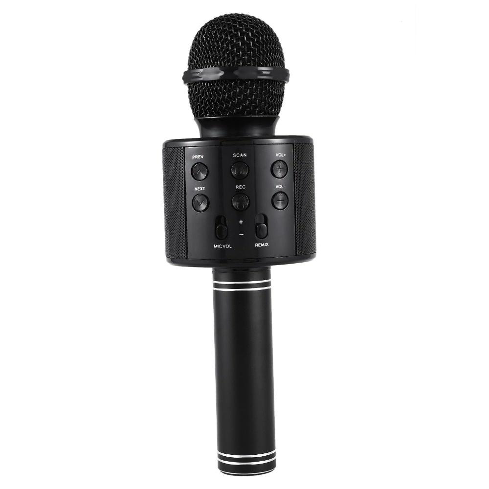 Микрофон Wster 858, 4617, черный цена