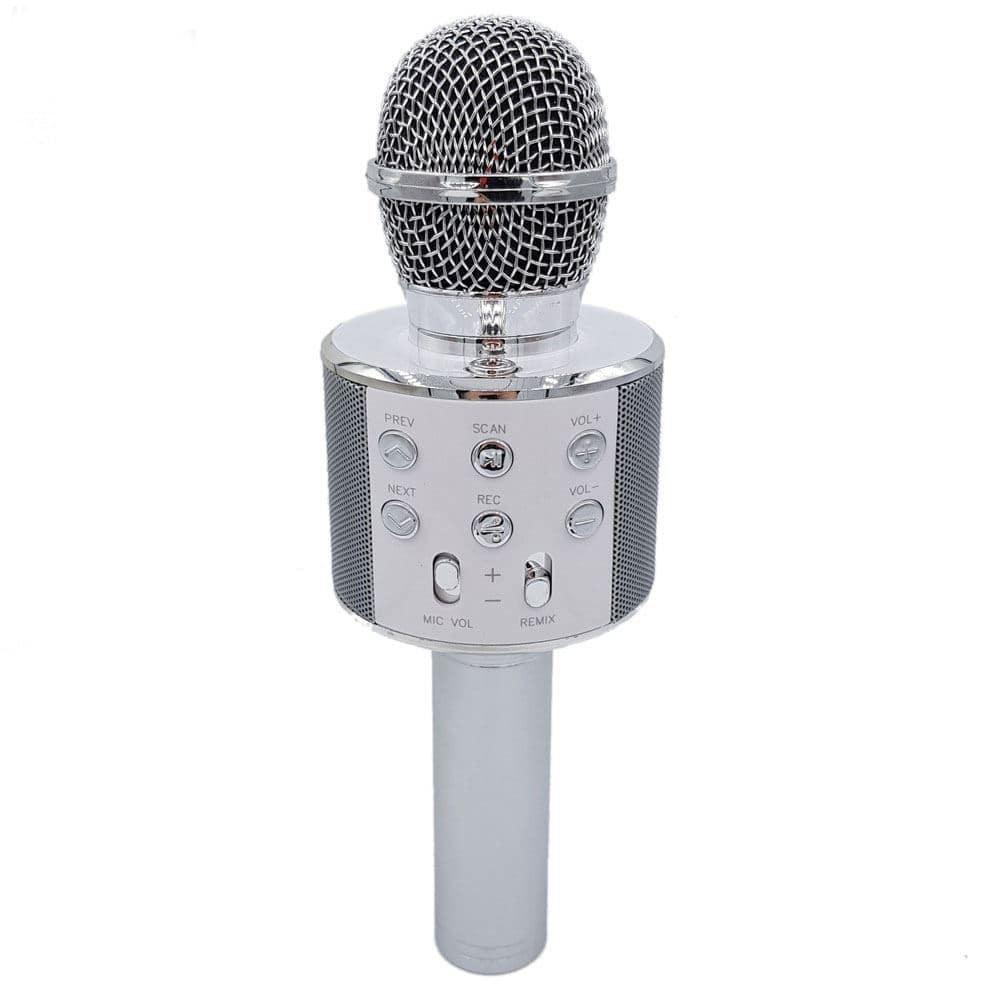 Микрофон Wster 858, 4624, серебристый цена