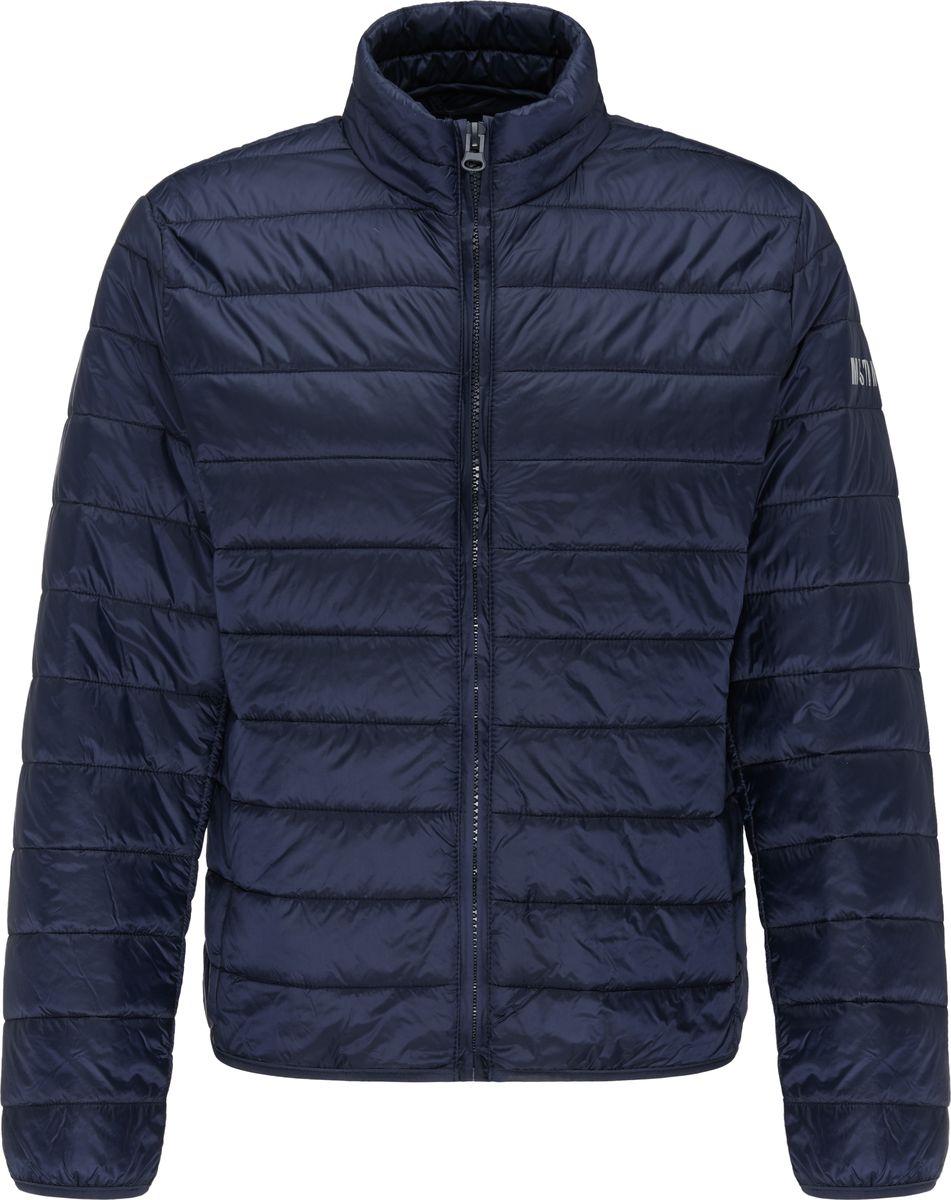 Куртка MUSTANG Padded Jacket stand collar zip up geometric camo padded jacket