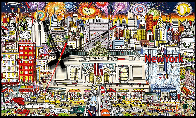 цена на Настенные часы Time2go Настенные часы, 707-1035, коричнево-красный
