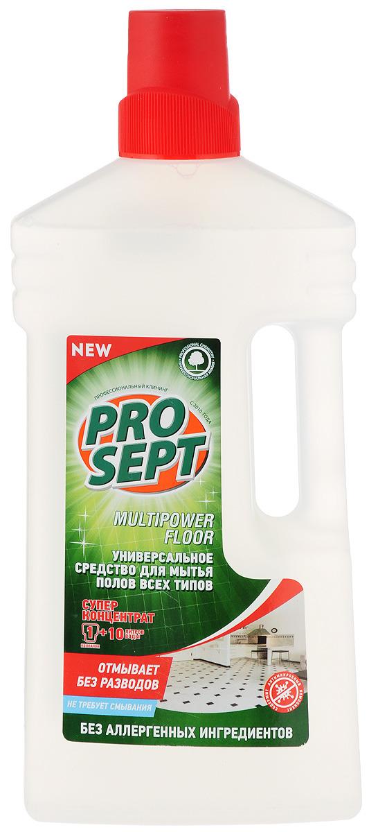Средство для мытья полов Prosept Multipower Floor, универсальное, концентрат, 1 л концентрат для мытья полов и стен prosept multipower полевые цветы 800 мл
