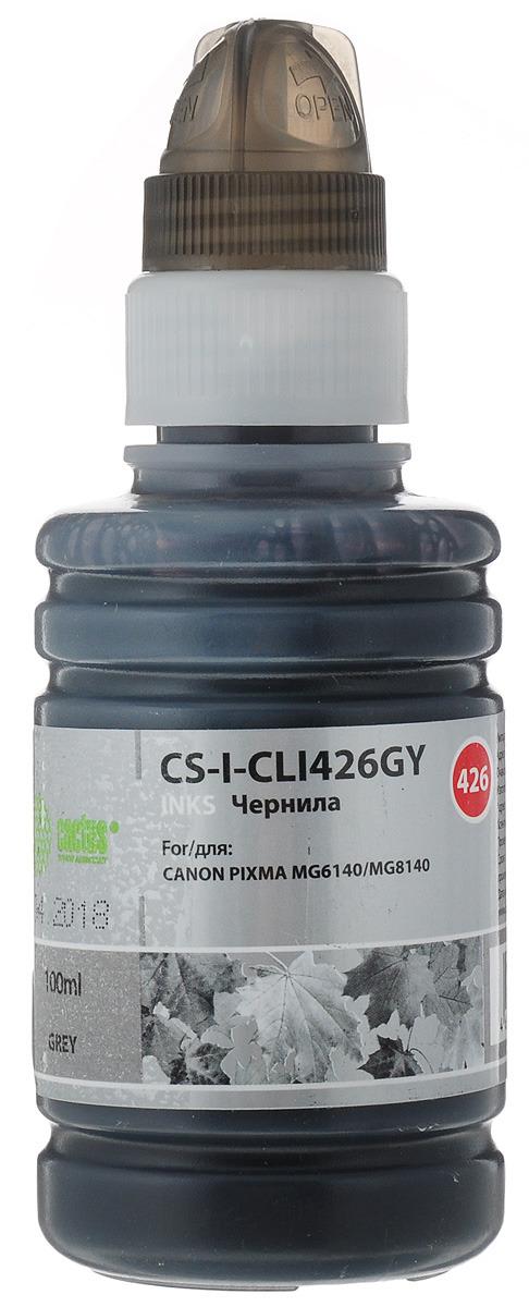 Cactus CS-I-CLI426GY, Gray чернила для Canon Pixma MG5140/5240/6140/8140/MX884 cactus cs r can425 color комплект картриджей для canon pixma ip4840 mg5140 5240