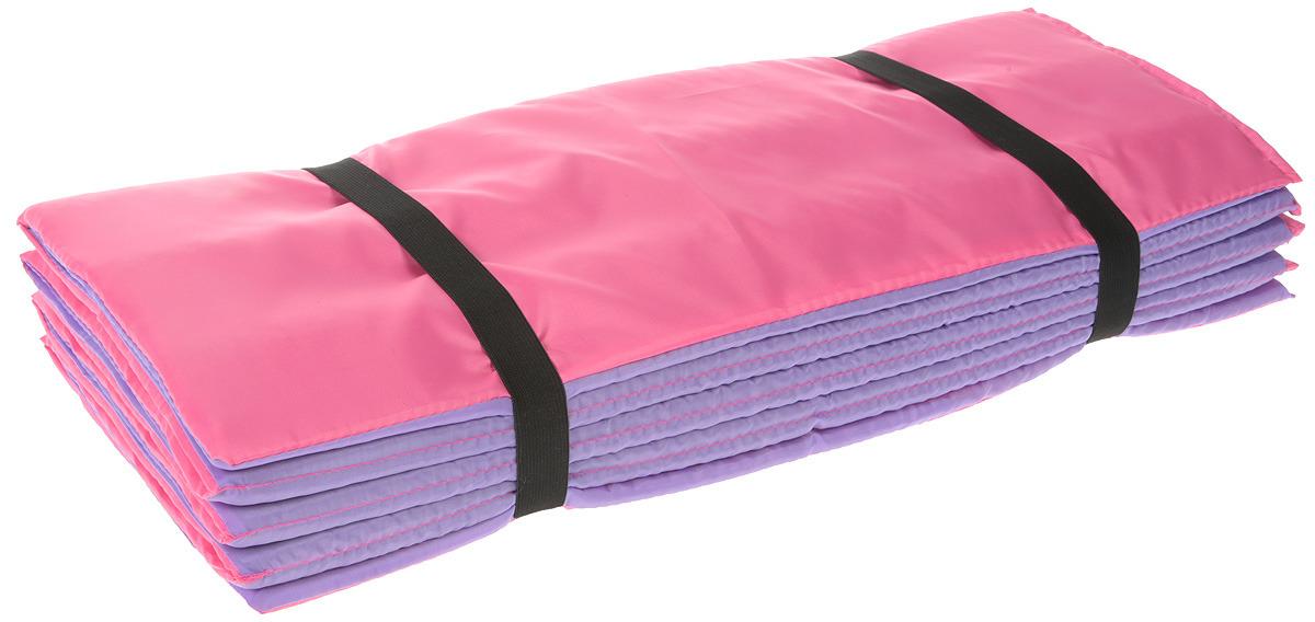 Коврик гимнастический Indigo SM-042, цвет: розово-фиолетовый, 180 х 60 см гимнастический коврик c дугами sh 303350